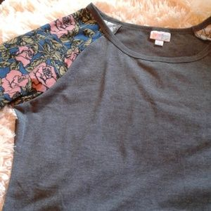 LuLaRoe Dresses - 🖤💙🌹ROSES IN PINK. JULIA DRESS 🌹💙🖤